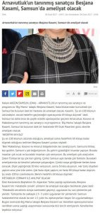 Arnavutlukun Tanınmış Sanatçısı Besjana Kasami