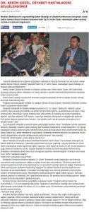 Dr. Kerim Güzel Diyabet Hastalarını Bilgilendirdi