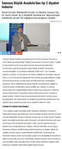 Haber gazetesi Büyük Anadolu tip 2 diyabet