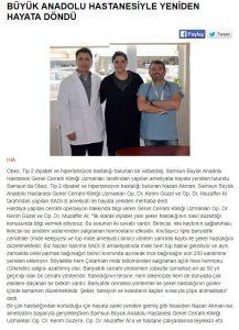 Milliyet Büyük Anadolu Hastanesiyle Tekrardan Hayata Döndü